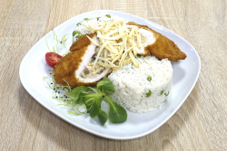 Carbonara csirkemell rizi-bizivel